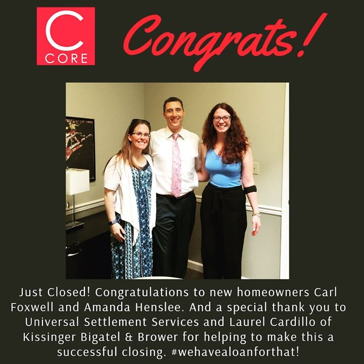 Congratulations to first time homebuyers Carl Foxwell and Amanda Henslee! #featurefriday #wehavealoanforthat
